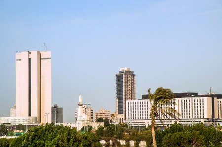 Modern buildings in the center of Jeddah in Saudi-Arabia