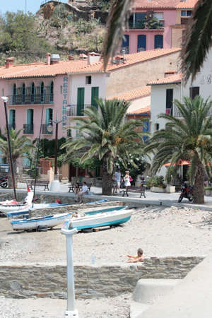 Beach of Collioure in Pyrenees orientales, France