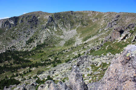 Mountain in Pyrenees orientales, Conflent in south of France