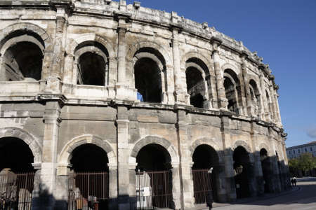 Roman arena of Nimes in Gard, Languedoc in south of France