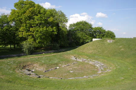Ancient roman theater in Oise, Picardie in north of France