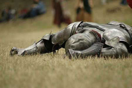 Knight defeated on the battlefield