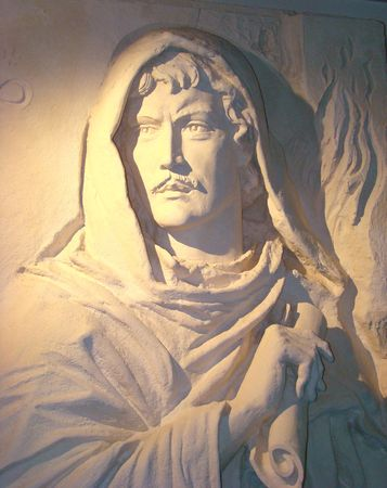 monument of Giordano Bruno the Italian philosopher and the poet the supporter of the heliocentric theory of a structure of the world of Kopernik