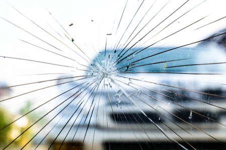 Photo pour Broken Windshield - image libre de droit