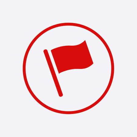 Illustration for Flag icon. Location marker symbol. Flat design style. - Royalty Free Image