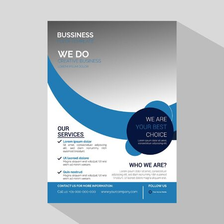 Illustration for Modern Corporate Business Flyer & Corporate Business Template for Flyer - Vector - Royalty Free Image