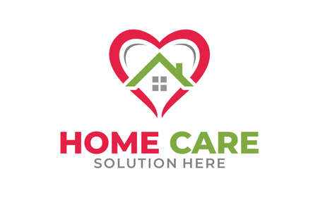 Illustration for Creative of Home Health Services Concept Logo Design Template - Royalty Free Image