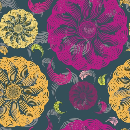 Illustration for Stylish floral seamless pattern - Royalty Free Image