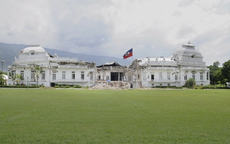 PORT-AU-PRINCE - AUGUST 22: Collapsed Presidential Palace in Port-Au-Prince, Haiti on August 22, 2010.