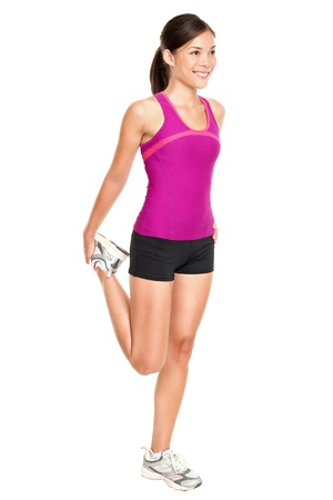 Fitness woman stretching full body.