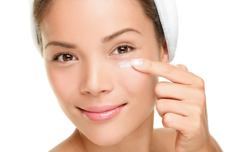 Beauty eye contour cream, wrinkle cream or anti-aging skin care cream
