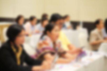 Photo pour Blurred image inside the banquet room. - image libre de droit