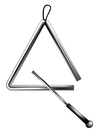 percussion triangle isolated on a white background
