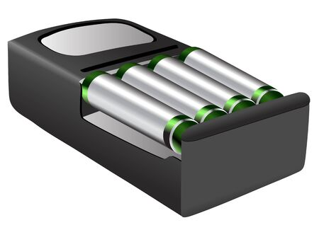 rechargeable batteries isolated on a white background