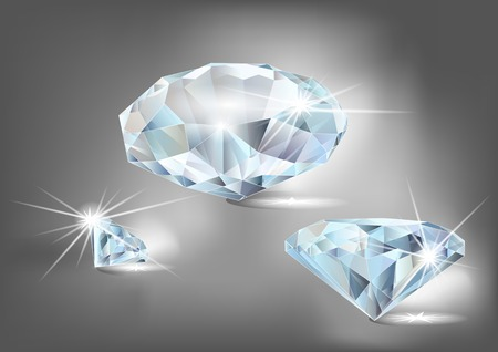 set of diamonds on a dark background