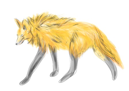 Illustration pour maned wolf isolated on a white background - image libre de droit