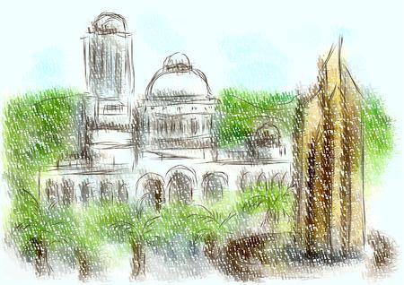 Ambato city painting.