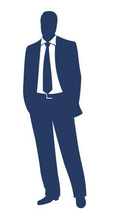 Illustration pour Businessman silhouette  - image libre de droit