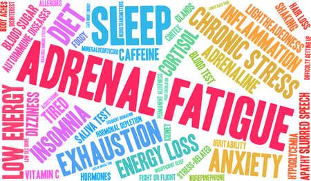 Adrenal Fatigue word cloud concept : Royalty-free vector