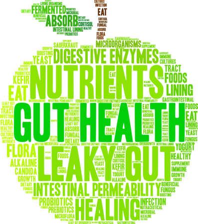 Illustration pour Gut Health word cloud on a white background.  - image libre de droit