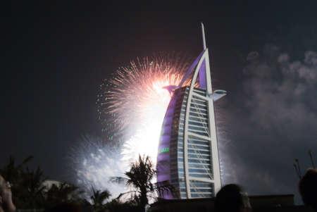 Burj el Arab, New Year Fireworks, Dubai, UAE