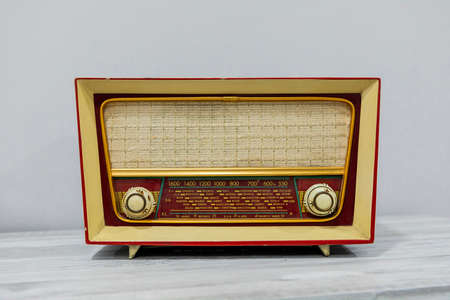 Photo for general plan of an old radio of the last century - Royalty Free Image