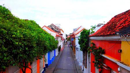 Photo pour A colored street in South America, a beautiful and original place - image libre de droit