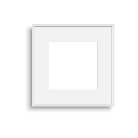 Illustration pour Realistic thin photo frame with soft shadow. Vector. - image libre de droit