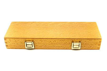 safely wooden box on a white background