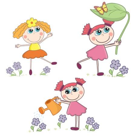 Cartoon girls set