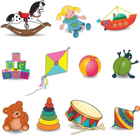 Illustration pour Baby s toys  - image libre de droit