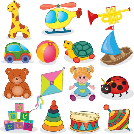Illustration for Baby s toys set  illustration - Royalty Free Image