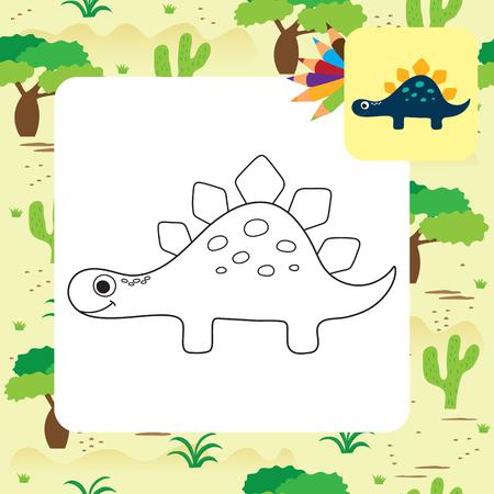 Dinosaur Apatosaurus Coloring Pages Stock Illustration ... | 450x450
