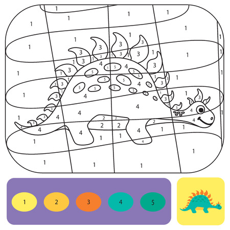 Cute dino coloring page for kids. Printable design coloring ...