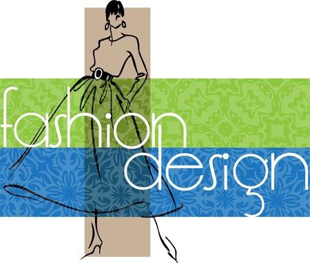 Foto de Fashion Woman. Vector illustration - Imagen libre de derechos