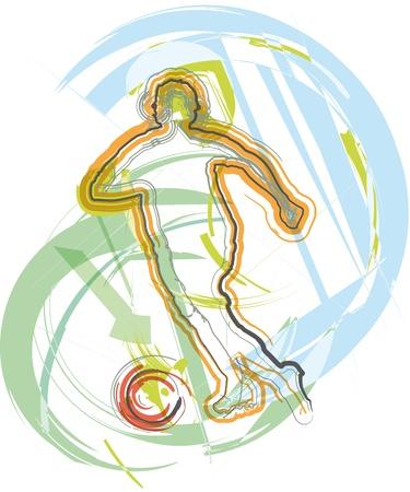 Illustration pour Football player. Vector illustration - image libre de droit