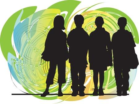Illustration pour Friends vector illustration - image libre de droit