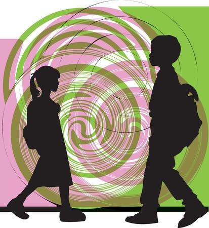 Illustration pour Friends. Editable Vector Illustration - image libre de droit