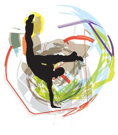 Dancing illustration