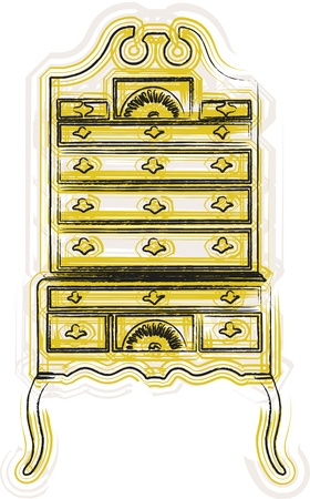 victorian furniture illustration