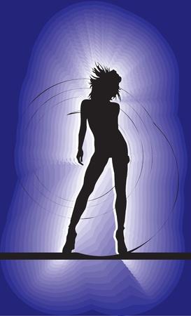 Dancing girl, vector illustration