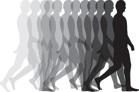 Illustration pour Man walking - image libre de droit