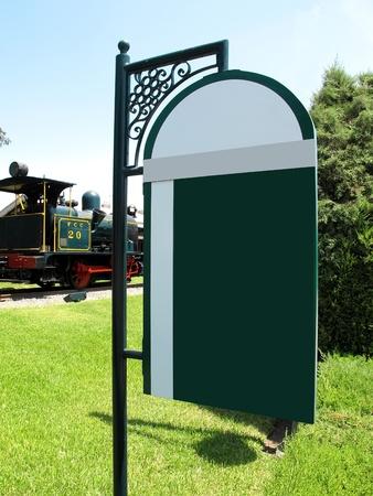 Public Information Signs in the park located at Friendship Park (Parque de la Amistad) in Lima - Peru