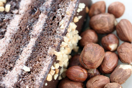 Almond cake with chocolate stuffing