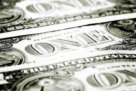 Macro image of a dollar