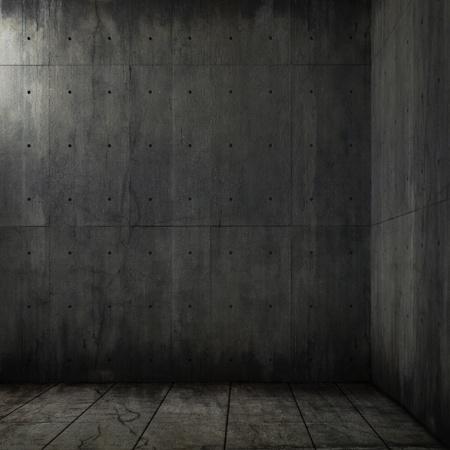 grunge background of an interior concrete room corner