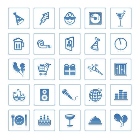 Photo pour Web icons : party and celebration - image libre de droit