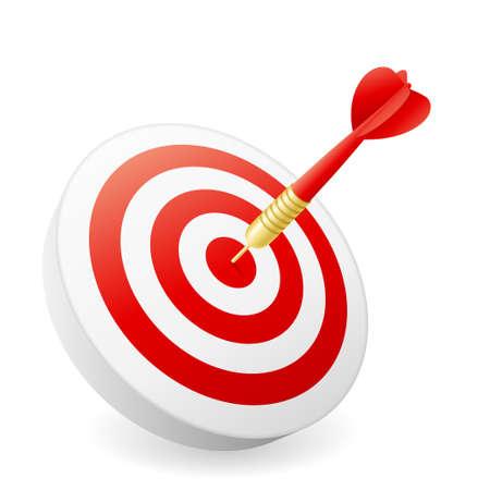 Business Success Concept - dart hitting target