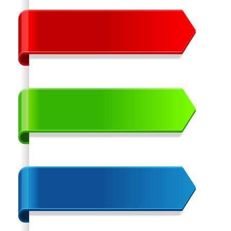 Photo pour Set of colorful paper tags - image libre de droit