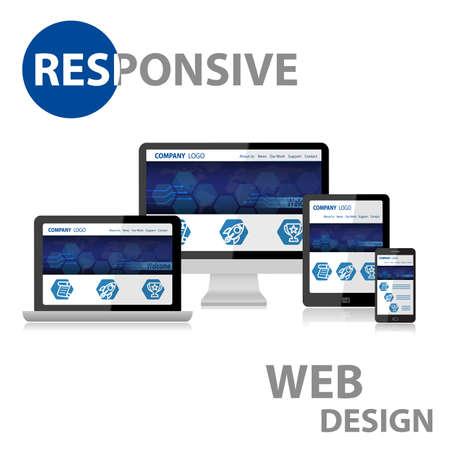 Photo pour Responsive Web Design on Various Device - image libre de droit